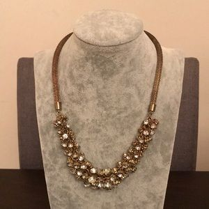 Jewelry - Gold Crystal Cluster Necklace